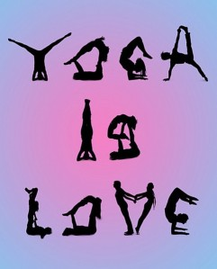 yoga is love poster
